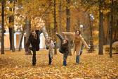 Funny Happy family — Foto de Stock