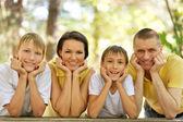 Caras familiares felices — Foto de Stock