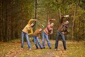 Happy family Training — Foto de Stock