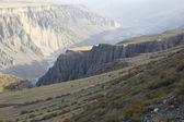Xinjiang, china: kuitun river canyon — Stock Photo