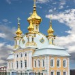 Church with golden domes — Stock Photo
