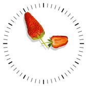 Time strawberries — Stock Photo