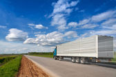 Truck road speed — Stock Photo