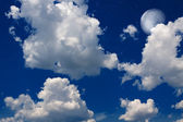 Moon and clouds — Stock Photo