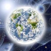 Globe in space — Stock Photo