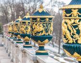 Gilded vases — Stock Photo