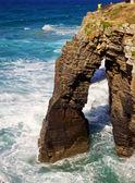 Playa de las catedrales arch — Stockfoto