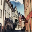 Stock Photo: Bystreet with medieval architecture