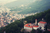 Monastery in mountains — Stock Photo