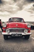 Russian red retro car — Stock Photo