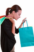 Young beautiful woman with shopping bags — Stock Photo