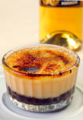 Close up of creme brule — Stock Photo