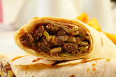 Close up of dorum doner kebab — Stock Photo