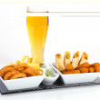 Beer and fried appetizer — Stock Photo #19925871