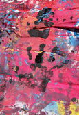 Abstract colors with a black hand painted — Stock Photo