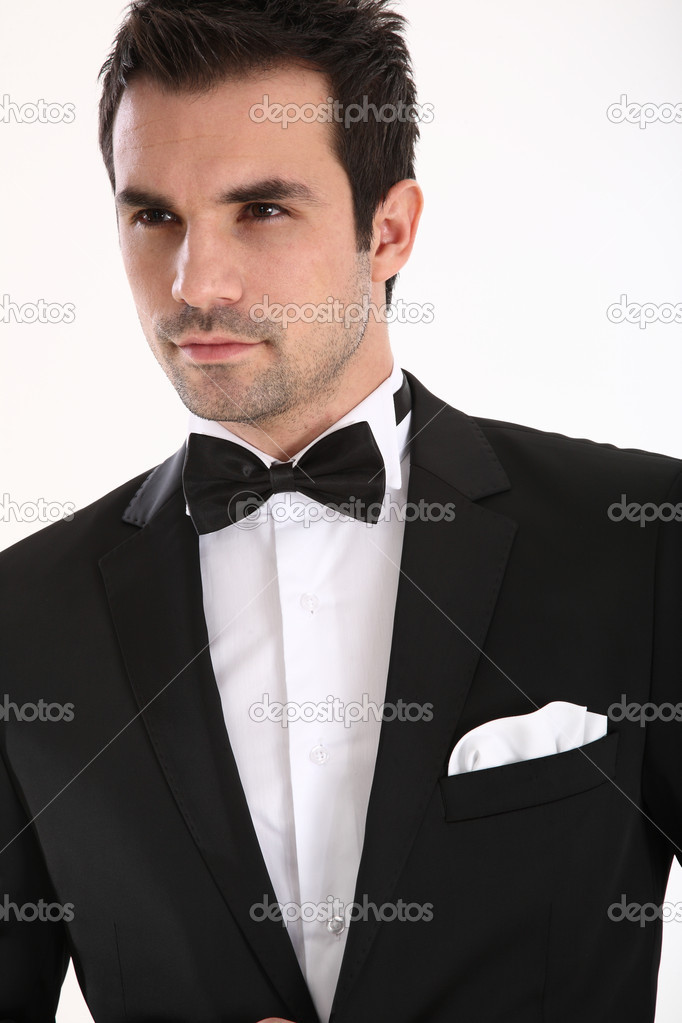 Handsome man in tuxedo — Stock Photo © shamtor #9409373