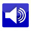 Stock Photo: Speaker icon