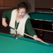 Stock Photo: Granny playing pool