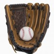 Baseball and Glove — Stockfoto