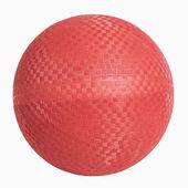 Guma czerwona ściana piłka — Zdjęcie stockowe