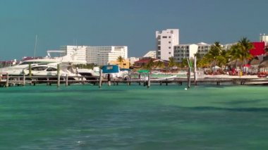 Resort Skyline in Cancun — Stock Video #23583155