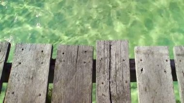 Wooden Pier and Tropical Water — Stock Video