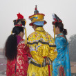Women in Traditional Chinese Clothing — 图库照片