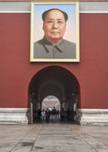 Tiananmen Gate of Heavenly Peace, Portrait of Mao, Beijing — Stockfoto