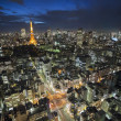 Tokyo Tower at night — Foto Stock