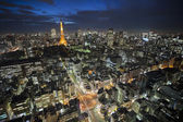 Torre de tóquio à noite — Foto Stock