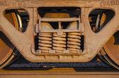 Yük treni ve parça — Stok fotoğraf