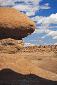 Rock formations in Goblin Valley State Park — Stock Photo