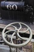 Metal Wheel of Steam Locomotive — Stock Photo