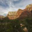 Stock Photo: Cliffs of Zion National Park in Utah
