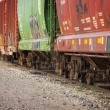 Photo: Freight Train Cars on Tracks