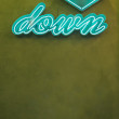 Neon Sign with Arrow Pointing Down — Stockfoto