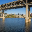 Portland Marquam Bridge — 图库照片