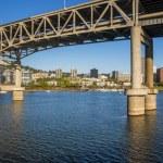 Portland marquam brug — Stockfoto