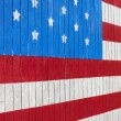 Stock Photo: Painted AmericFlag