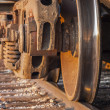 Stock Photo: Freight Train and Track