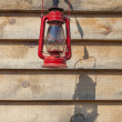 Stock Photo: Red Kerosene Lantern
