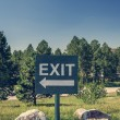 exit sign — Stock Photo