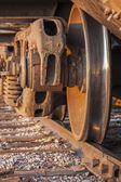 Freight Train and Track — Stock Photo