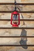 Red Kerosene Lantern — Stock Photo