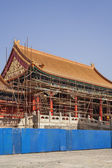 Forbidden City and Scaffolding — Stock Photo