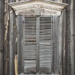 Wooden Shutters on Window of Old Building — Stock Photo