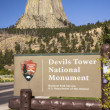 Devils Tower National Monument Sign — Stock Photo #33236887