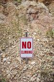 No Climbing Sign — Stock Photo