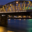 Portland Bridge at Night — 图库照片