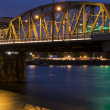 图库照片: Portland Bridge at Night